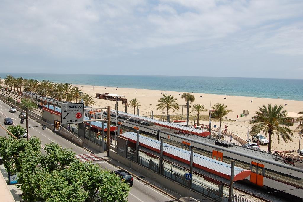 Estació de tren d'Ocata, al Masnou.